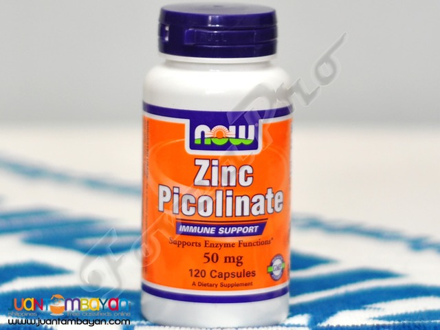 NOW Zinc Picolinate [50mg], 120 caps, 120 servings (Free Shipping)
