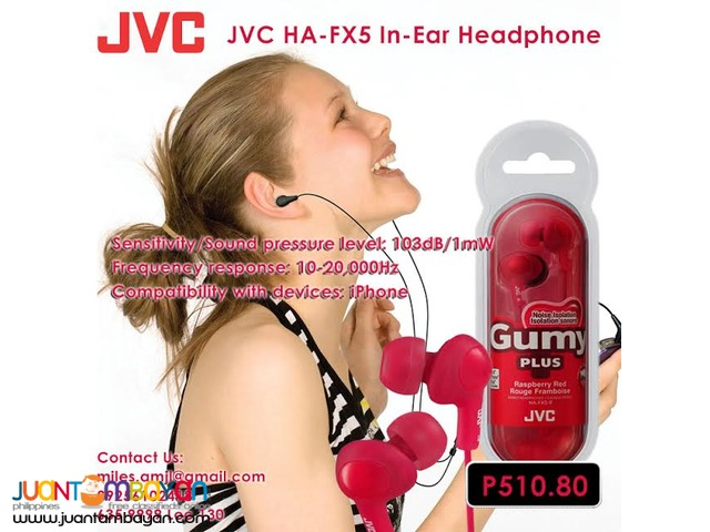 JVC HA-FX5 In-Ear Headphone (Red)