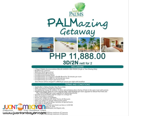 PALMazing Getaway (South Palms Resort Panglao)