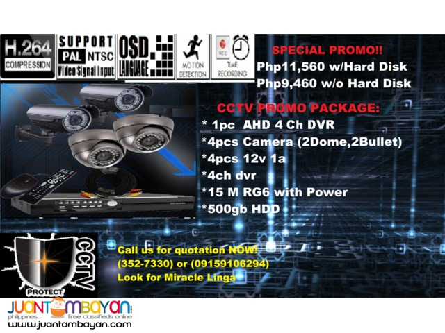 CCTV Package (Dome&Bullet)