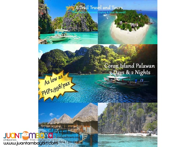 CORON ISLAND HOPPING TOURS PACKAGE