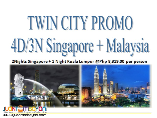 4Days and 3Nights Singapore + Malaysia TWIN CITY Tour