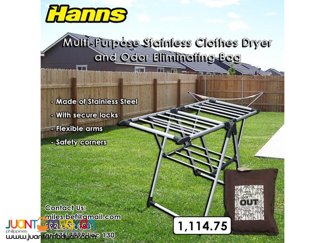 Hanns Clothes Dryer + Odor Eliminating Bag