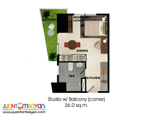 Condo Studio Unit for as low as P15,731 mo amort in Cebu City