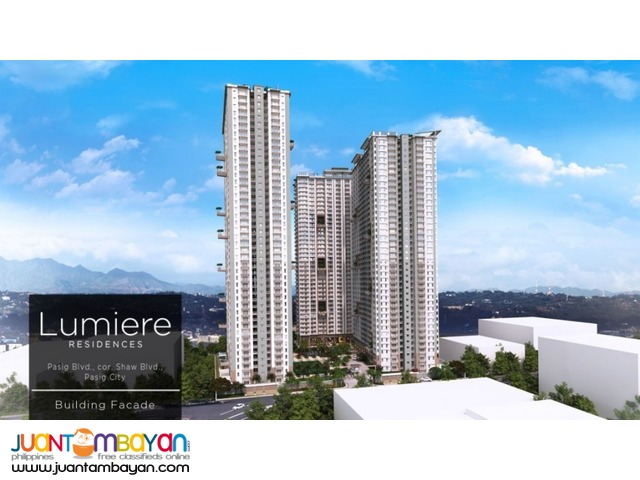 Lumiere Residences in Pasig corner shaw boulevard