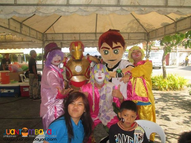 Party hosts, Magicians, Bubble shows, Face paintings and Mascots