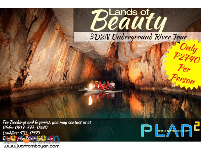 3D2N Underground River Tour for only P2740 Per Person!