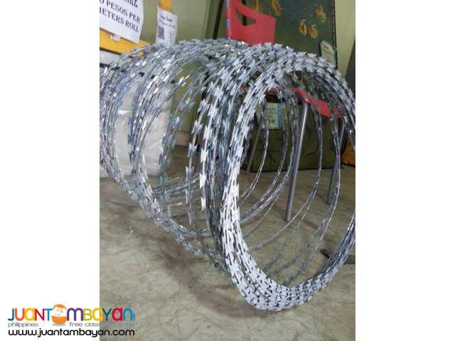 Razor Barb Wire P300.00 only per roll . GRAB YOURS NOW !!!