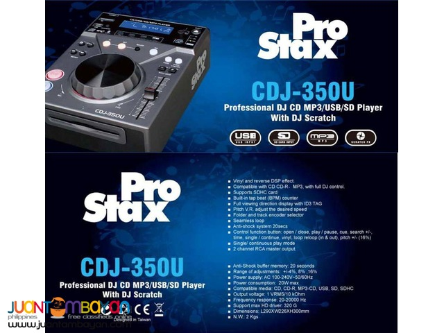 CDJ-350U DJ CD Player