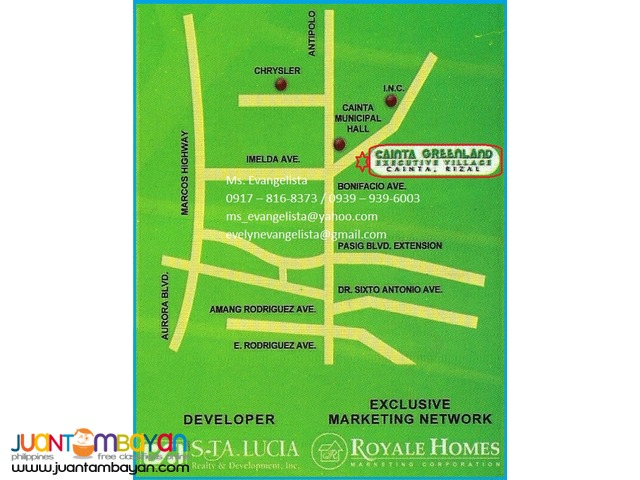 Lot for sale in Cainta Greenland Exec. Village Phase 3B