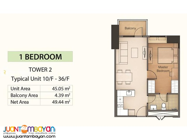 Mandani Bay 1 Bedroom Unit - Cebu, Mandaue City