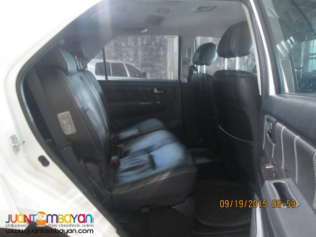 RENT A CAR FORTUNER WHITE