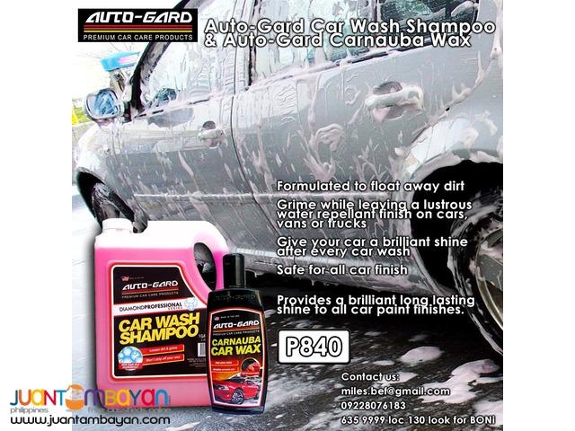 Auto-gard Car Wash Shampoo 1liter and Auto-gard Carnauba Wax 250ml