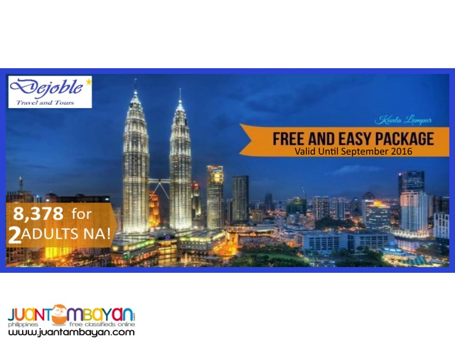3D2N Malaysia - KL Free and Easy  8,378 for 2 ADULTS NA!