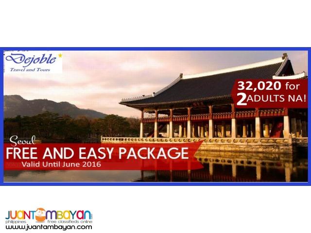 3D2N Korea - Seoul Free and Easy: 32,020 for 2 ADULTS NA!