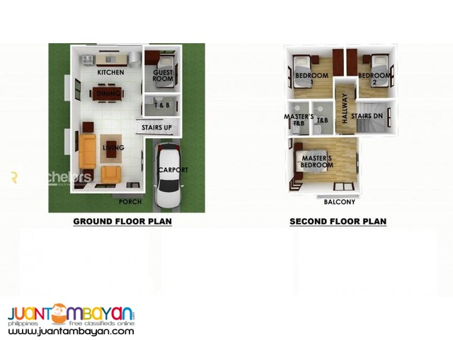 2-Storey Single Attached for sale as low as P20,368k mo amort