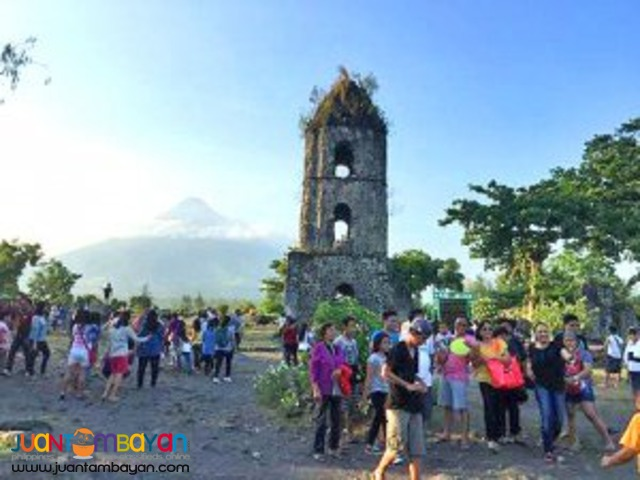 Cagsawa Ruins is symbolic of close to danger, Mayon Volcano tour
