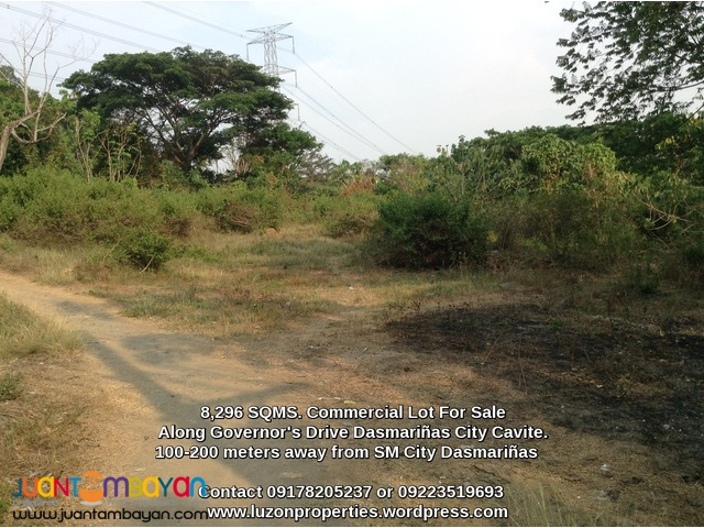 FOR SALE 8,296 SQMS. Commercial lot in Dasmariñas City Cavite