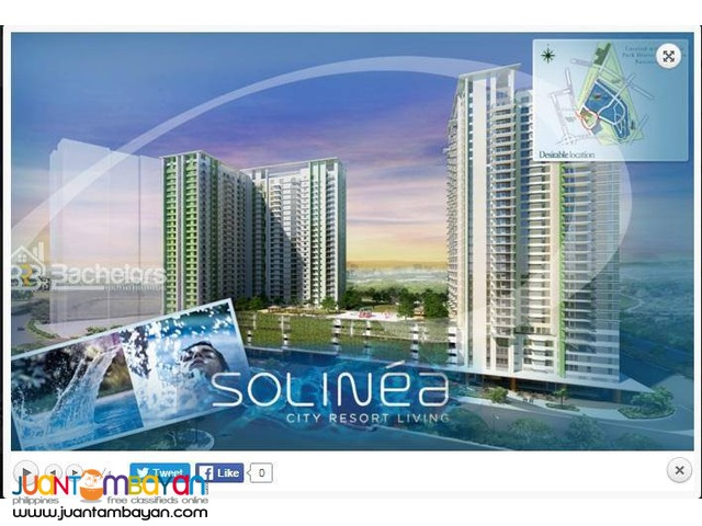 Solinea @ Cebu Business Park, Cebu City 2 Bedroom Unit (Tower 1-3