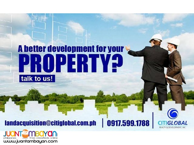 We are looking for properties 2-2000 Hectares in LAGUNA