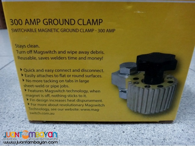 Magswitch 8100746 Ground Clamp with Fins 300 Amp