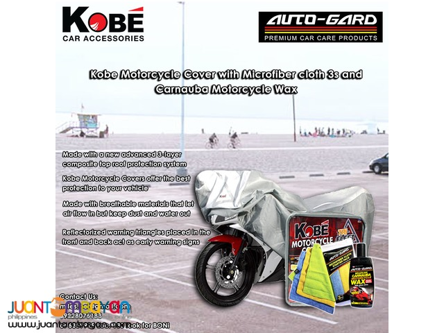Motorcycle Cover with Carnauba Wax and Microfiber Cloth 3s