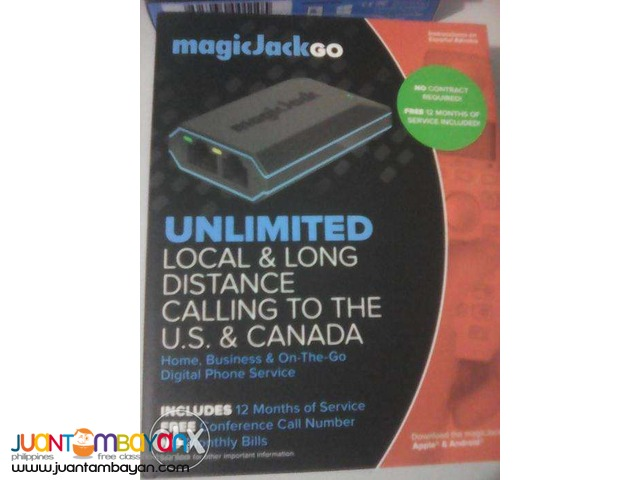 Magic Jack Go VoIP (Latest Model) plus 12 Months FREE Service Included