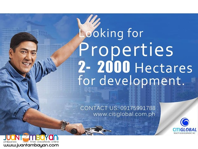 We are looking for properties 2-2000 hectares in GUIMARAS