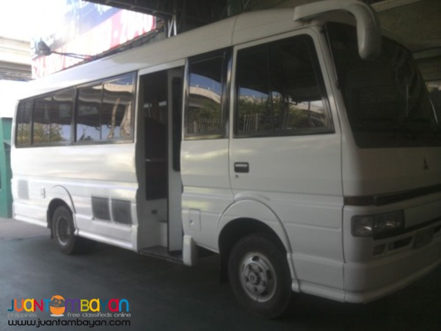 RENT A CAR FUSO COASTER WHITE