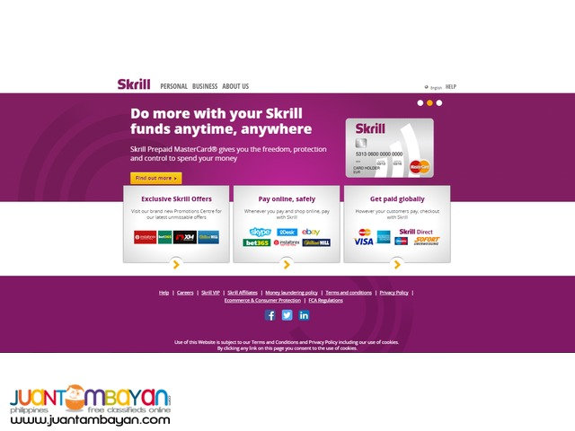 Skrill Mastercard - Get your Free Mastercard