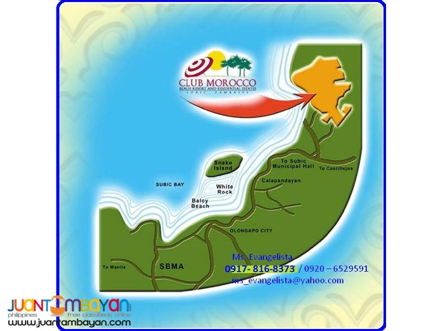 Club Morocco Beach Resort & Res. estates @ P 4,800/sqm.