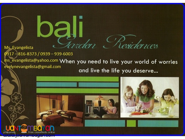 Condominium in Bali Garden Residences 2bedroom