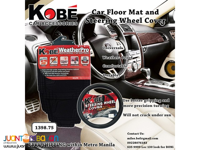 Kobe Car Mattings + Kobe steering Wheel Cover