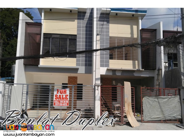 Spacious Brand New Duplex House in Banlat Tandang Sora