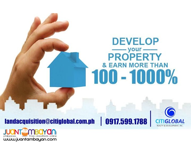 We're searching for property at least 400 sqm in Metro Manila!