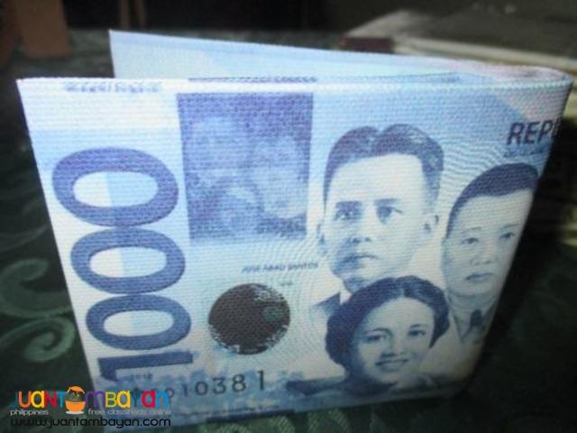 Peso bill bi-fold wallet so unique choose your denomination