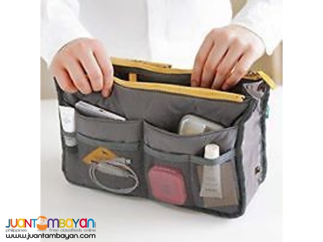 Dual Bag in a Bag Organizer travel cosmetic Mesh Pouch
