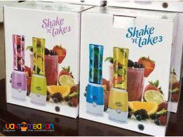 Shake N' Take 3 Mini Sports Bottle Electric Blender 2 Bottles
