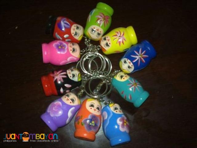Lot of 12 Mini Russian Dolls/ Matryoshka Doll Keychains