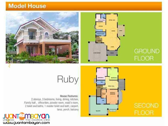 2-Storey Single Detached House for sale as low as P52,711 mo amort