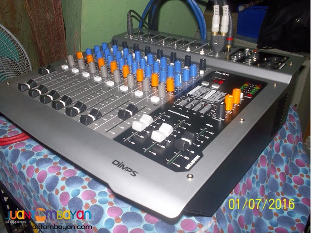 dimps powered mixer 350w 8 channel