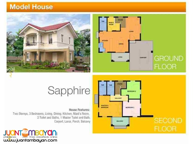 2-Storey Single Detached House for sale as low as P42,137 mo amort