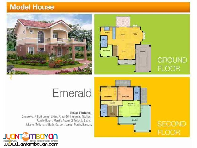 2-Storey Single Detached House for sale as low as P71,995 mo amort
