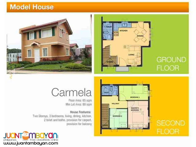 2 storey Single Attached House for sale as low as P20,254 mo amort