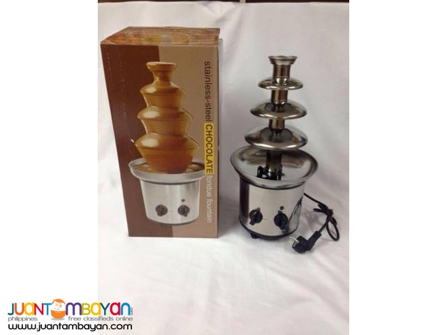 4 Layer Chocolate Fountain Fondue Stainless