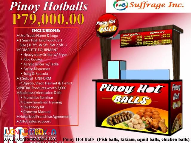 Pinoy Hotballs & Fries Food Cart Franchise 99K Only