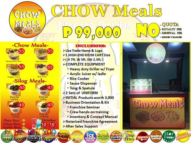Chow Meals Food Cart Franchise 79K Only