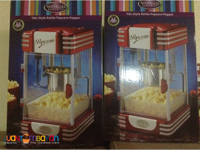 Assorted Popcorn Machines