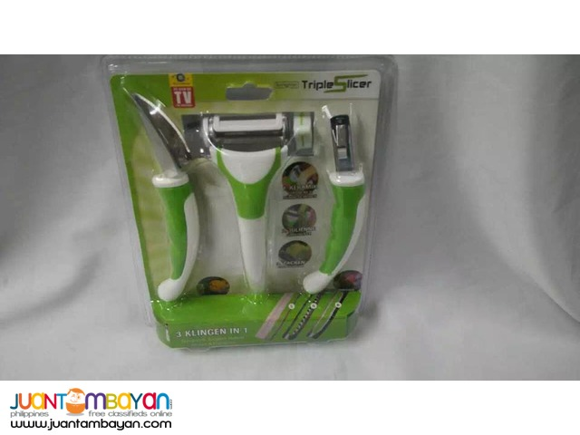 Triple Slicer 3 in 1 Multifunction Kitchen Set As cseen on T.V