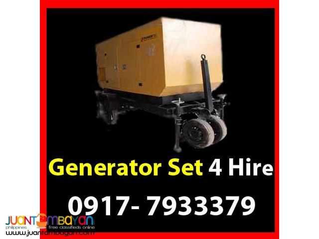 Generator Set Rental Hire Manila Philippines